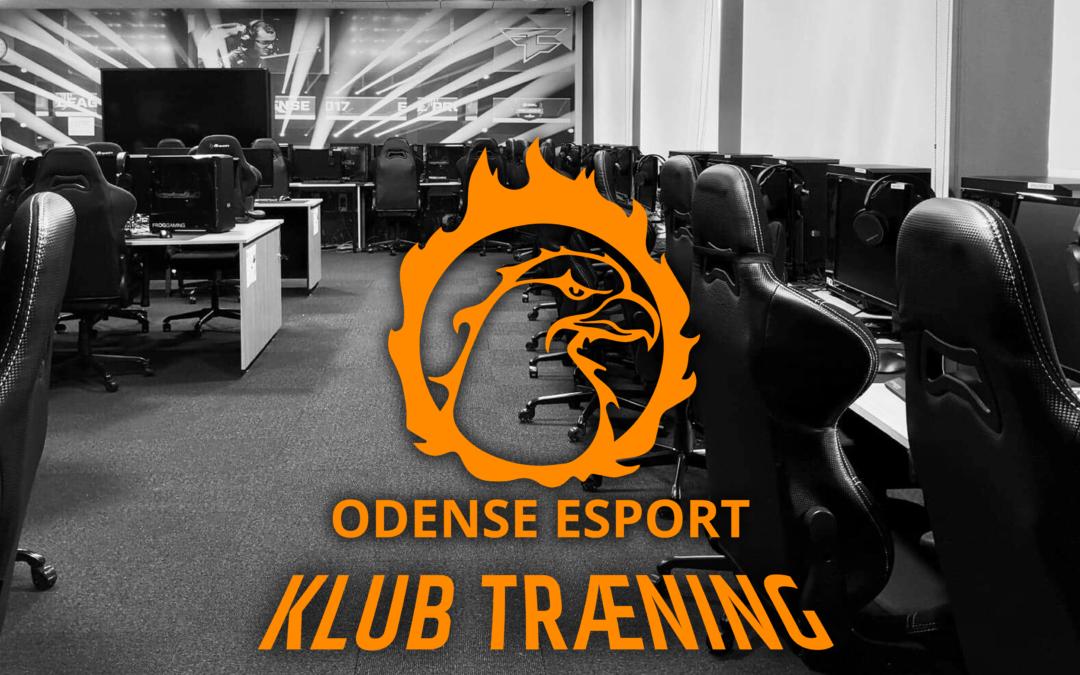 Opdatering på Odense Esport klub træning